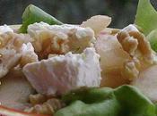 legerete pour finir semaine: salade verte poires, chevre noix