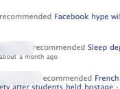 flux d'activité Facebook