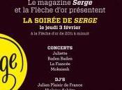 Soirée Serge avec Juliette Fiancée Concert Flèche d'Or Paris