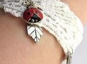 Bracelets ruban coccinelles