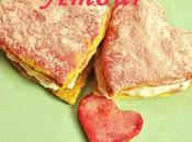 Millefeuilles amoureux coco-framboises
