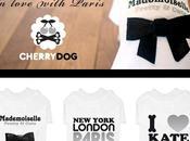 Tshirts pour Chiens Cherry Love with Paris