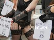 Manifestantes sexy défilé nouvel chinois