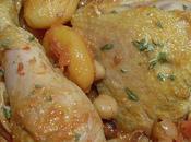 Tajine poulet abricots