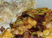 Omelette topinambours noix pétoncles