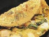 Omelette chèvre poireaux