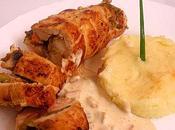 Escalope poulet farcie légumes
