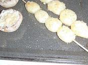 Petits champignons farcis brochettes pomme terre....!