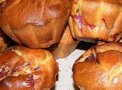 Muffins briochés salami, mimolette tomates séchées