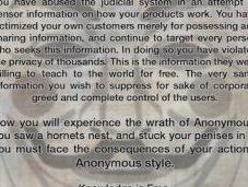 Anonymous déclarent guerre Sony
