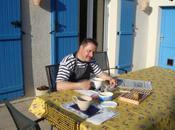 Petit-déjeuner terrasse, avril 2011