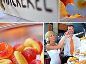deco mariage orange tropicale