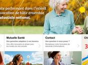 site d'Harmonie Mutuelles traduit stratégie regroupement cinq mutuelles santé