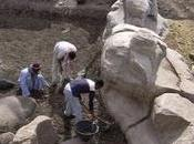 énorme statue d'Amenhotep découverte Louxor
