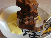 Brownies banane cannelle crème anglaise