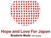Hope Love Japan braderie mode pour venir aide victimes séisme
