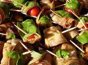 Aubergines roulees basilic mozzarella