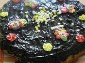Gâteau yaourt poires/chocolat/amandes