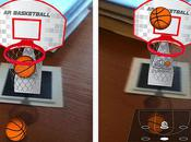 ARBasketball iPhone, jouer basket bureau...