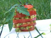 Millefeuille tomate-avocat.