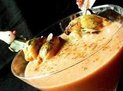 Gaspacho moules coriandre, brochette marinée d'autres idées gaspacho