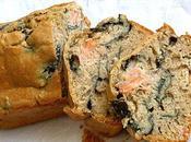 Cake noir, algues truite fumée. Défi blogueuses