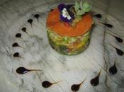 Mille-feuilles langoustines saumon confit legumes provencaux!!