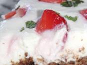 Cheese-cake chocolat, fraises & menthe Sans cuisson l'agar-agar