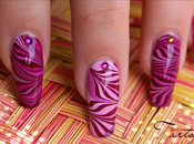 Water Marble Zebre Nail
