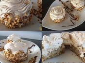 Dessert glacé Gâteau noisettes, glace pralinée meringue.....