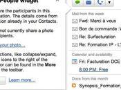 Widget Participants, Gmail maintenant module