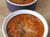 Flans tomate basilic