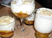 Mousse petits suisses confiture d'abricot peches