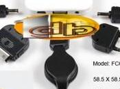 Chargeur portable secour Q-Power avec connectique iphone,Micro,Mini,Nokia,Samsung,Sony Ericsson.