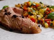 """Selle d'agneau """"basse température"""", légumes soleil, poudre d'olive basilic"""