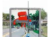 Ambient billboard Lego entre rêve réalité