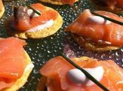 Recette galette d'avoine, idée apéritif n°2, Saumon fumé, citron, fromage blanc