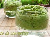 Pesto courgettes
