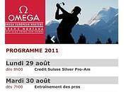 formidable affiche pour l'Omega European Masters
