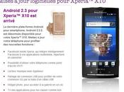 Sony Ericsson Xperia passe Gingerbread
