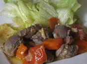 Gésiers canard cuisinés tomate