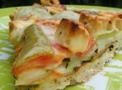 Tarte courgettes poivrons fêta tomate pâte brisée pavot