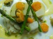 Cabillaud demi-sel, aïoli huile basilic