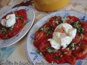 Salade tomates jardin, oeufs pochés