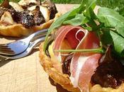 Tartelettes Figues, Chèvre Jambon