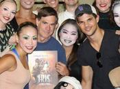 Taylor Lautner with Sant Cirque Soleil