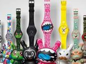 marque jouets Kidrobot s'associe Swatch pour collection montres exclusives