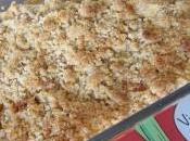 Crumble poire-nectarine-caramel beurre salé