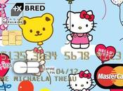 cartes bancaires Hello kitty chez Bred