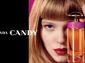 Seydoux, égérie color block parfum Candy Prada